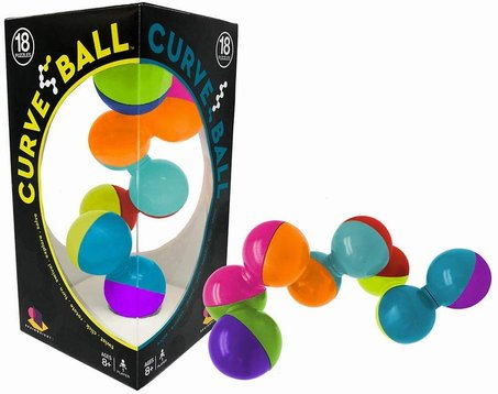 12 Assorted Plastic 3D Puzzle Balls With Instructions