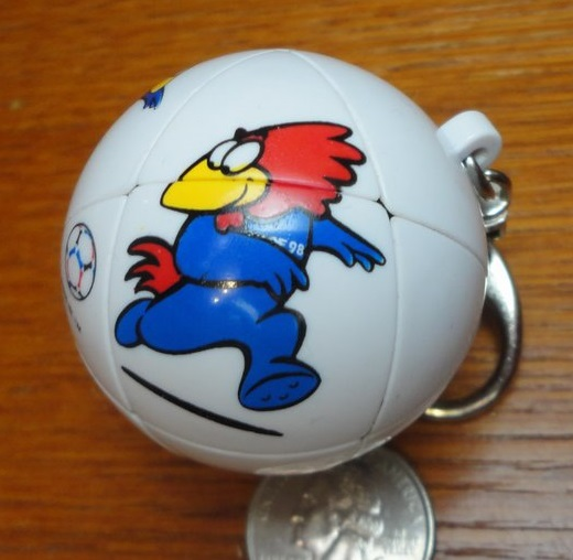 FIFA World Cup France '98 mini Skewb keychain puzzle